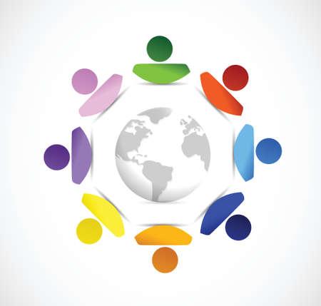 diversity around the globe. illustration design over a white background