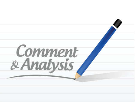 reassessment: comment and analysis message sign illustration design over a white background