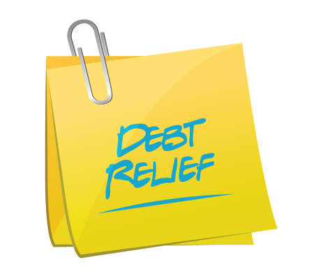 memo: debt relief memo post illustration design over a white background