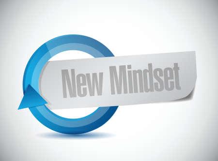 mindset: new mindset cycle sign illustration design over a white background