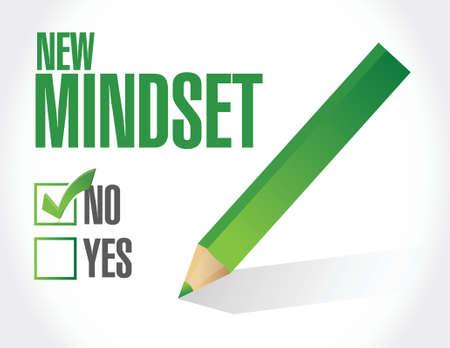 mindset: new mindset check list illustration design over a white background