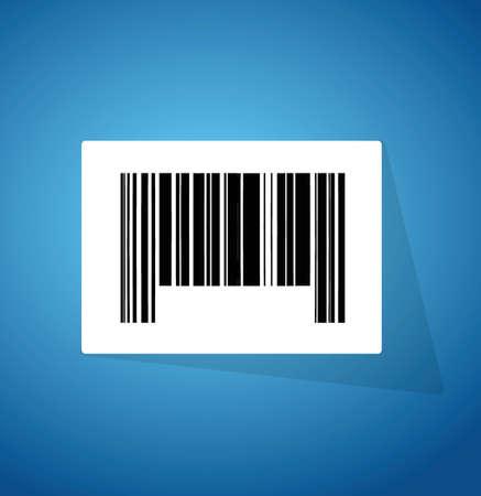 barcode ups code illustration design over a blue background  イラスト・ベクター素材