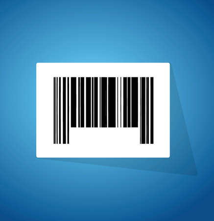 barcode ups code illustration design over a blue background Illustration