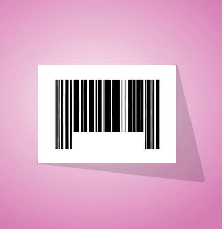 barcode ups code illustration design over a pink background Illustration