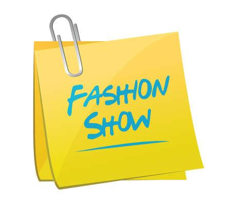 fashion show memo illustration design over a white background Illustration