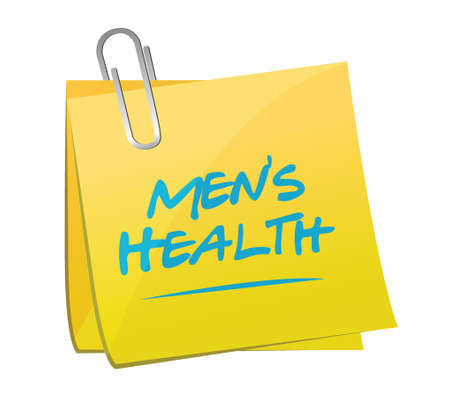 mens: mens health post it illustration design over a white background Illustration