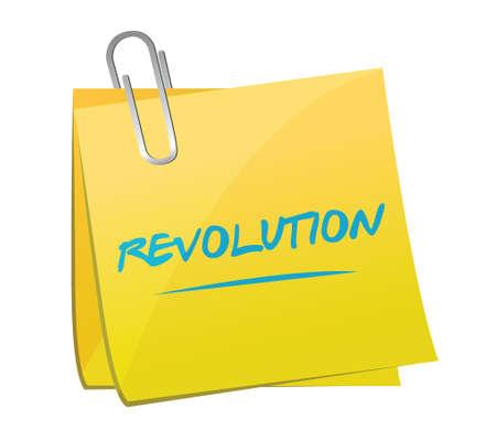 grasp: revolution memo post illustration design over a white background Illustration