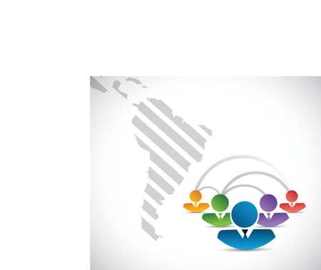 ラテン アメリカ人ビジネス コミュニケーション コンセプト イラスト デザイン、白い背景の上 写真素材 - 35441285