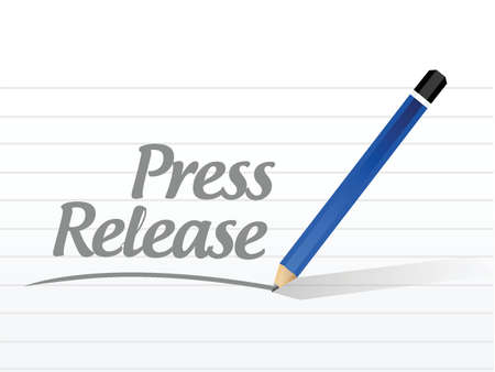 press release message sign illustration design over a white background 向量圖像
