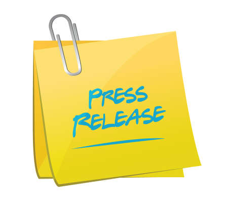press release: press release memo post illustration design over a white background