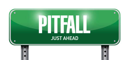 pitfall: pitfall road sign illustration design over a white background