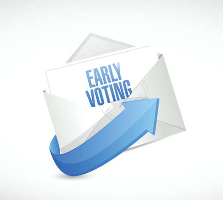 early voting envelope mail illustration design over a white background Illustration