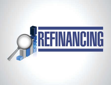 borrowing money: refinancing business graph illustration design over a white background Illustration