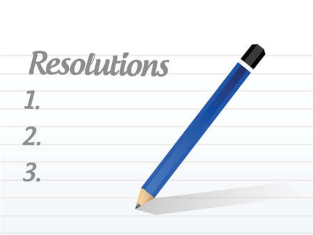 new years resolution: resolutions list illustration design over a white background
