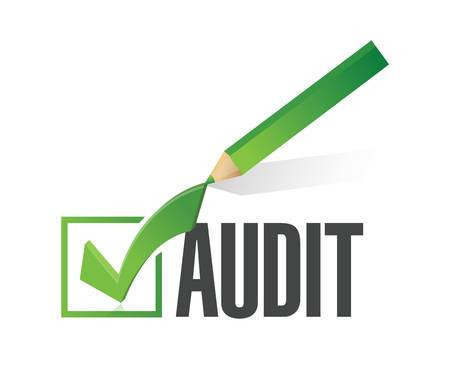 internal revenue service: audit check mark illustration design over a white background