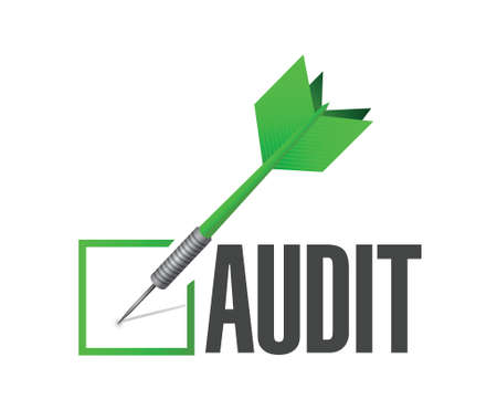 audit: audit check dart illustration design over a white background