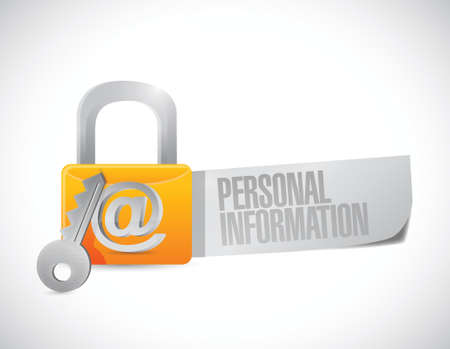 personal information secure. concept illustration design over a white background