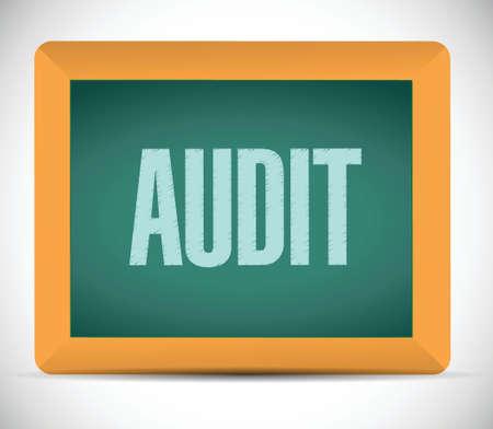 audit: audit board sign illustration design over a white background