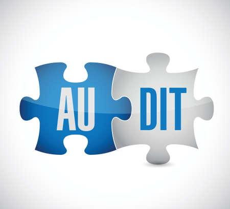 internal revenue service: audit puzzle pieces illustration design over a white background Illustration