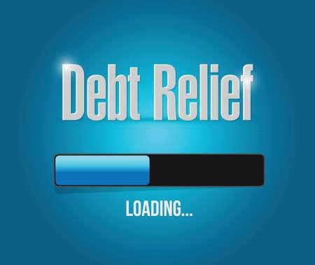 brighter: debt relief loading bar illustration design over a blue background Illustration