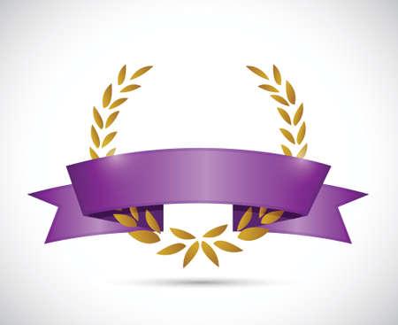 Th anniversary ribbon illustration design over a white