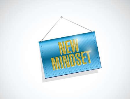 encouragements: new mindset banner sign illustration design over a white background