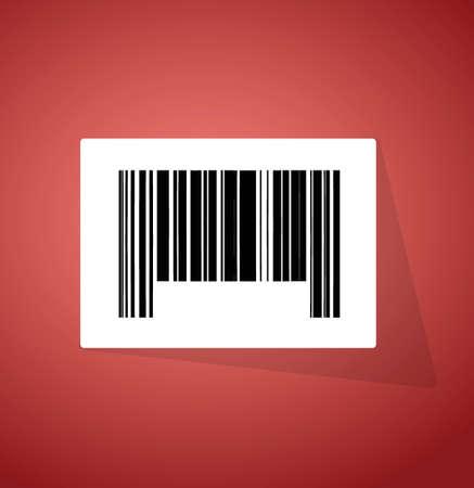 barcode ups code illustration design over a red background