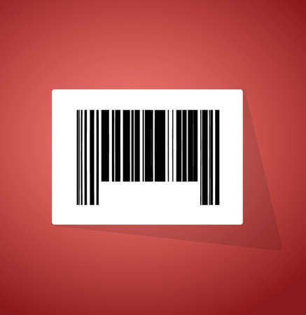 barcode ups code illustration design over a red background