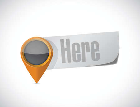 here pointer sign illustration design over a white background