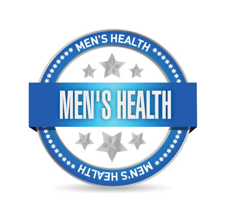 gym room: mens health seal illustration design over a white background
