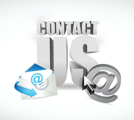 contact us concept illustration design over a white background