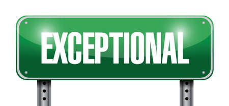 exceptional: exceptional street sign illustration design over a white background