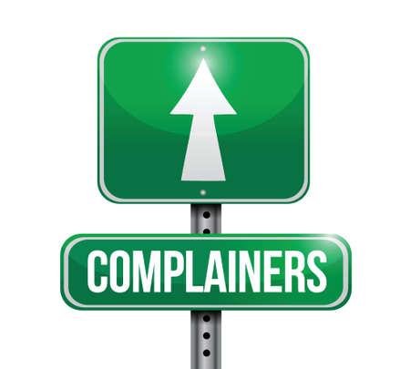 complainers street sign illustration design over a white background