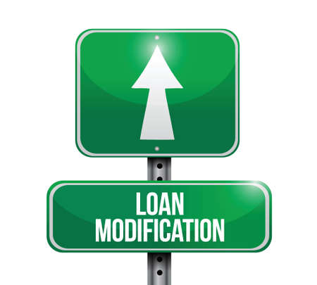amend: loan modification street sign illustration design over a white background