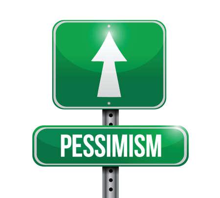disagree: pessimism street sign illustration design over a white background Illustration