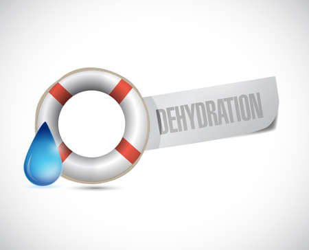 dehydration: sos dehydration sign illustration design over a white background