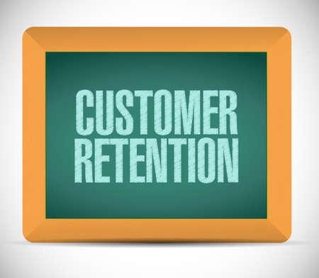 best practices: customer retention sign illustration design over a white background