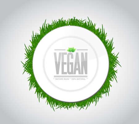vegan food concept illustration design over a white background illustration