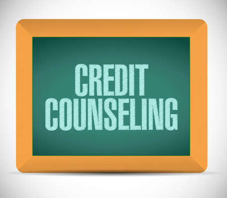 owed: credit counseling board illustration design over a white background