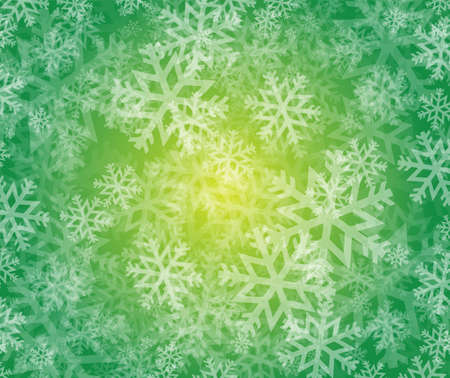 holiday celebrations: snowflake winter holiday illustration design over a green background