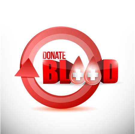 hematology: donate blood concept illustration design over a white background