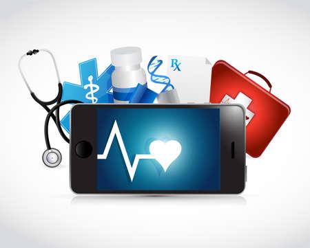 Tablet medische concept illustratie ontwerp op een witte achtergrond Stockfoto - 35448813