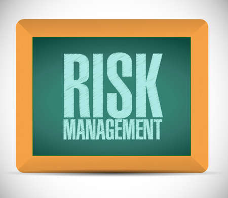 buisnes: risk management board sign illustration design over a white background