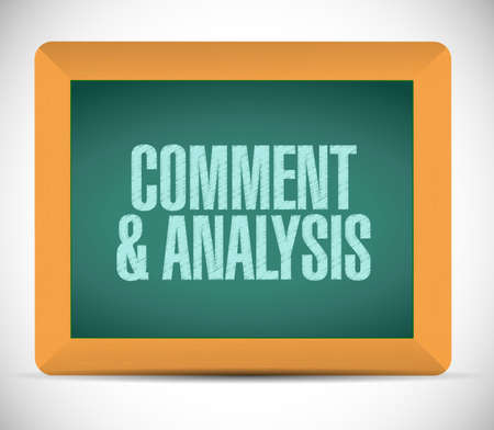 reassessment: content and analysis board sign illustration design over a white background Stock Photo