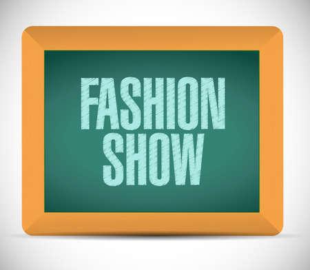 craze: fashion show message sign illustration design over a white background