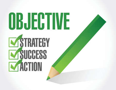 objective check list illustration design over a white background Çizim