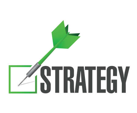 strategy check dart illustration design over a white background Illustration