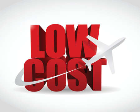 low cost: low cost airfare illustration design over a white background