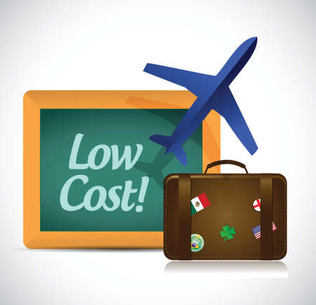 low cost: travel low cost concept illustration design over a white background