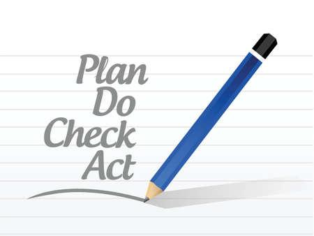 ciclo de vida: plan de hacer comprobar mensaje acto ilustraci�n de la muestra de dise�o sobre un fondo blanco